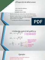 Gráfico p (Proporción de Defectuosos)