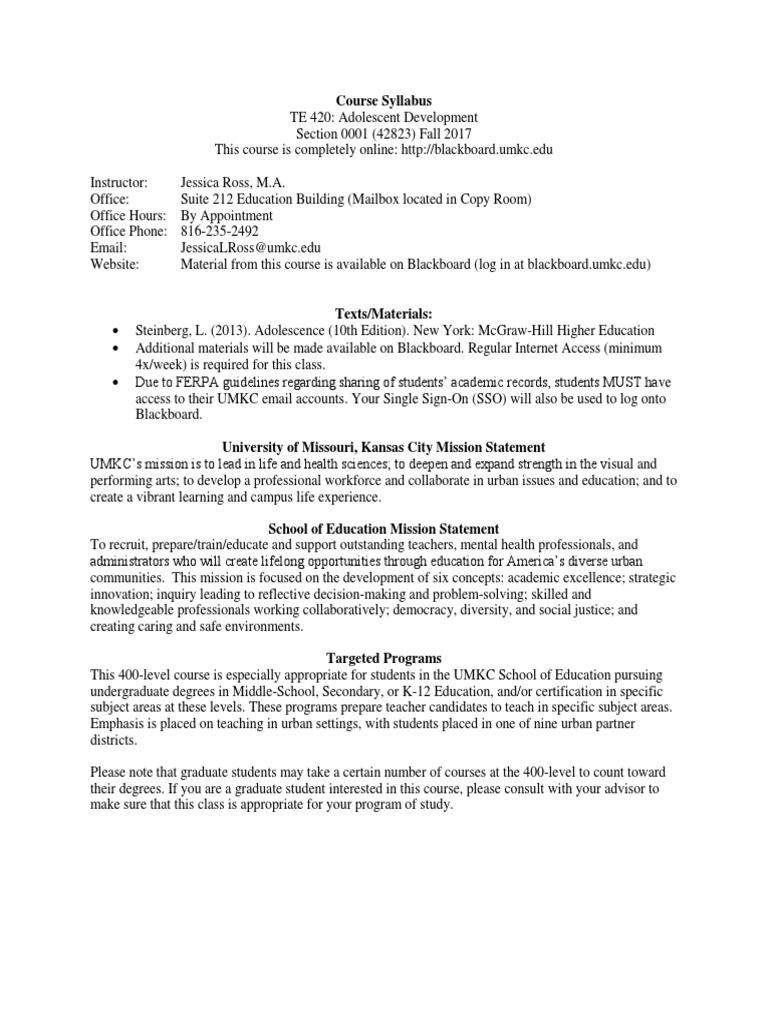 Te 420 Syllabus Fall 2017 Jross Academic Dishonesty Quiz
