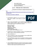 Lista de Exercícios 02 Mancais Rolamento 140915