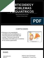 Corticoides y Problemas Psiquiátricos