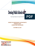 Deming Public Schools Forensic Consulting Report - November 2017
