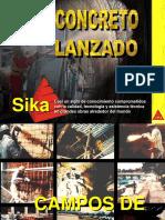CONCRETO LANZADO