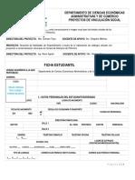 Formato Ficha Estudiante Vinculación