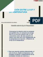 Relación Entre La Kp y La Temperatura(Laveriano Paredes, Ridley Showalter)