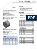 d350 Taper Lock End Anchor Tech Data Sheet