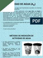 2. Actividad de Agua