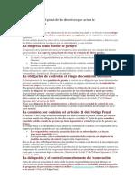 A Responsabilidad Penal de Los Directivos Por Actos de Sus Subordinados