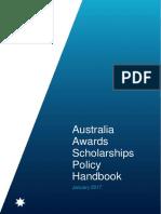 Aus Awards Scholarships Policy Handbook