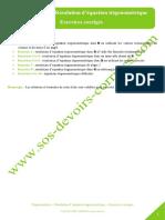 Trigonometrie Resolution Equation Trigonometrique