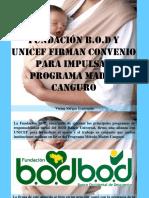 Víctor Vargas Irausquín - Fundación B.O.D y Unicef Firman Convenio Para Impulsar Programa Madre Canguro