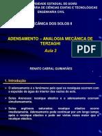 Aula 3B - Adensamento - Analogia Terzaghi