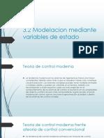 3.2 Modelacion Mediante Variables de Estado
