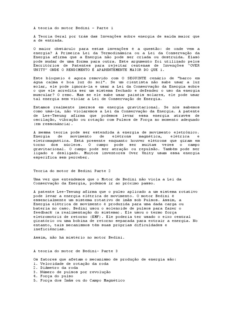 Circuito Motor Bedini : A teoria do motor bedini docx