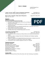 kyle a zaluski  resume 9-17