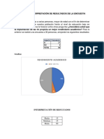 Analisis e Interpretación de Resultados de La Encuesta