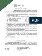 Affidavit of Abandonment
