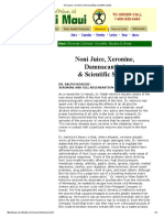 Noni Juice_ Xeronine, Damnacanthal Scientific Studies