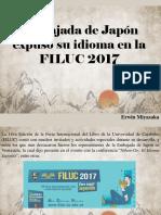 Embajada de Japón Expuso Su Idioma en La FILUC 2017