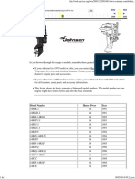 Outboard Marine Corporation - Model Year Guide