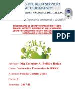 Cuestionario de Valoracion Posada Castillo Jesús