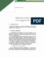 HERNÁNDEZ MARÍN Rafael, Definiciones en El Derecho