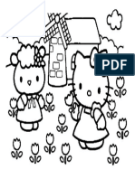 Mewarnai Gambar Hello Kitty 10