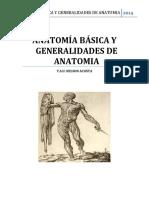 Anatomia Basica y Generalidades de Anatomia.