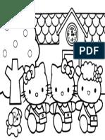 Mewarnai Gambar Hello Kitty 3