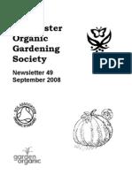 September 2008 Chichester Organic Gardening Society Newsletter