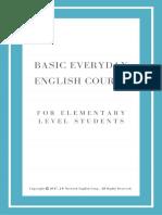 Basic Everyday English Course(for Elementary Level Students)