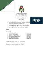 Informe 3. Determinacion de Densidades, Humedad y Vacios.