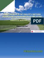 Paparan Draft Final - Rtsp Kec.bungku Utara Kab. Morowali Utara 2017