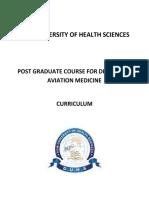 Curriculum for Diploma in Aviation Medicine-20130726