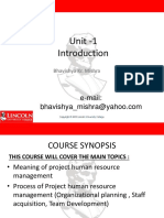 Unit - 2 Project Human Resource Management
