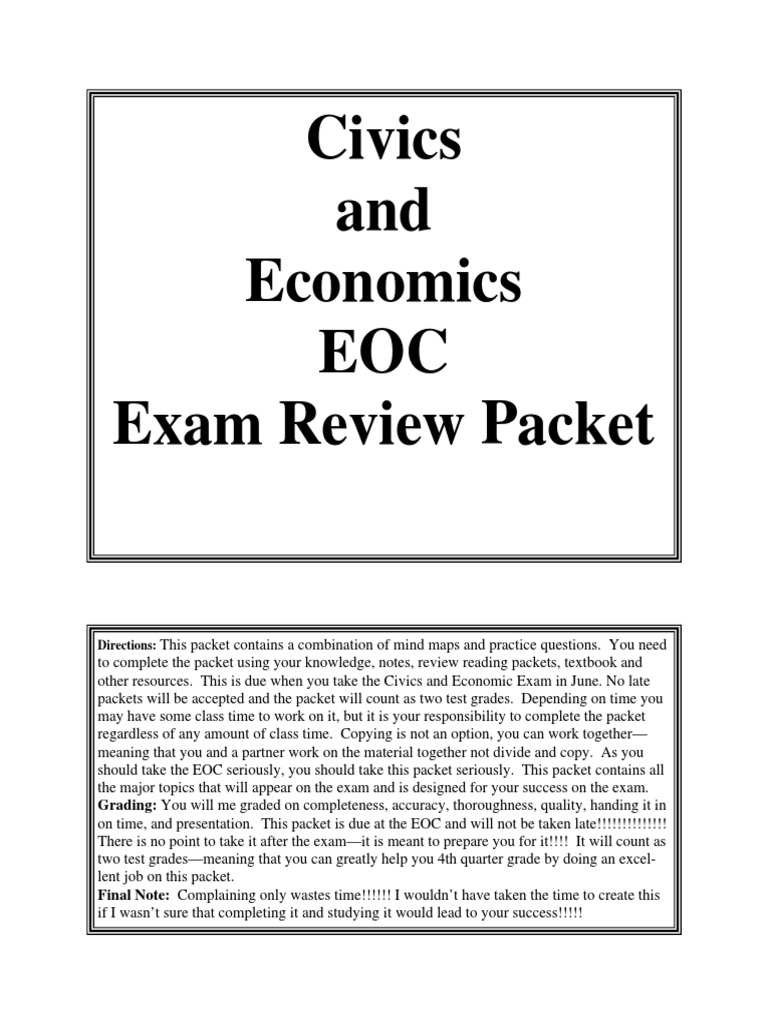 Civics and Econ Review Packet | Federal Government Of The ...