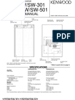Kenwood 103 SW Service Manual