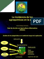 Incidencia de Los Agroquímicos.