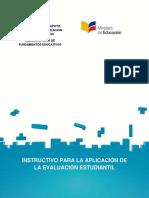 MINEDUC - Instructivo para la aplicacion de la evaluacion estudiantil (Actualizado a 2017).pdf