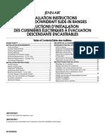 Jenn-Air Electric Downdraft Slide-In Range Installation Guide