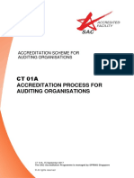 CT 01A - Accreditation Process for Auditing Organisations - Sep 15
