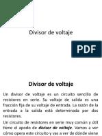 Divisor de Voltaje