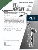 Accent on Achievement Book 2 - Tenor Sax