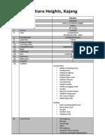 Mutiara Heights, Kajang_Package Fact Sheet
