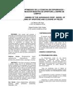 Articulo-planeamiento Optimizado de La Cosecha de Esparragos-dos Columnas