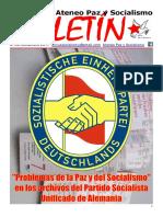 Boletin del Ateneo Paz y Socialismo de diciembre de 2017