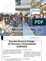Gaceta CCH UNAM 11/2017 Divulgacion Cientifica