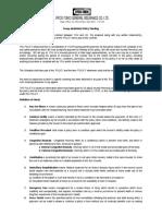 Standard ITGI GMC Policy Wording