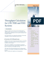 Throughput Calculation for Lte Tdd and Fdd System