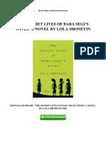 The Secret Lives of Baba Segis Wives a Novel by Lola Shoneyin