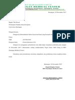 Surat Ijin Tidak Msk Kuliah